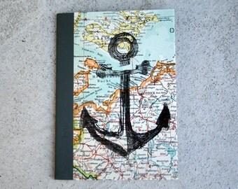 ANCHOR * DinA6 travel diary notebook Atlas