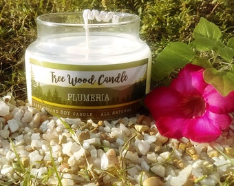 Soy Candles Handmade, Plumeria, 10 oz Candle , Soy Candle , Scented Candle - Unique Gifts for Her , Custom Gift, Vegan Candle, eco friendly