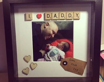 I Love Daddy - scrabble picture frame