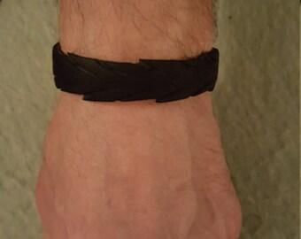 Mens bracelet of rubber