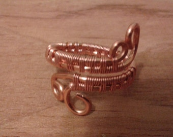 Adjustable copper ring, copper ring, adjustable wire wrapped ring, copper, adjustable ring, copper ring, adjustable wire ring, copper, ring