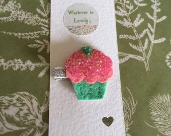 Cupcake Hair Clip/Pin Badge