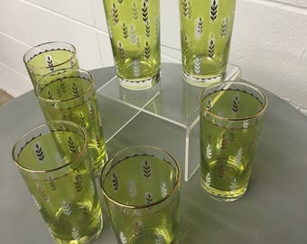 Vintage Mod Highball Glasses *FREE SHIPPING*