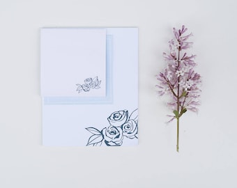 Floral 4x5 notepad & floral post-it® notes