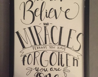 Miracles - calligraphy art