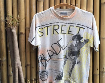 Early 90s All Ovet Print Street Blade By Local Boys Sport T-Shirt
