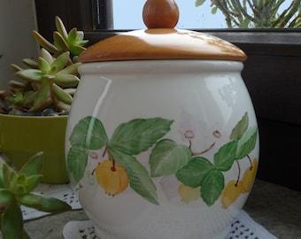 airtight jar with physalis