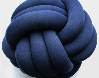 LARGE NAVY Knot Pillow, Knot Pillow, Throw Pillow, Decorative Cushion, Home Decor, Nursery Decor, Kids room Decor