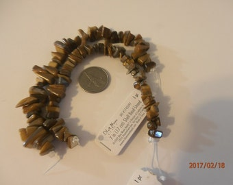 blue moon brown shell beads