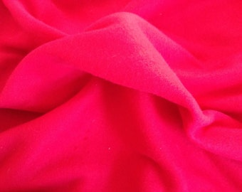Red fleece, 1 2/3 yds, bright red fleece,