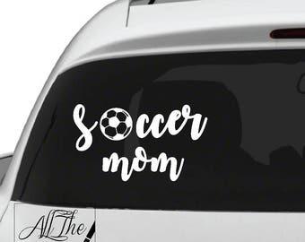 Soccer Mom Vinyl Decal - Soccer Decal - Soccer Mom Decal - Soccer Mom Vinyl Decal - Sports decal - parent decal - soccer sticker