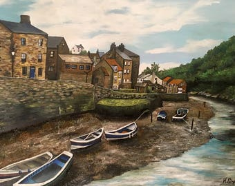 A Day In Staithes - Fine Art Print - From An Original Artwork