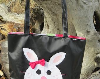 Brite Bunny Vinyl Tote Bag
