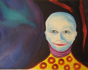 Clown with Red Dots by Jack C. Mendenhall