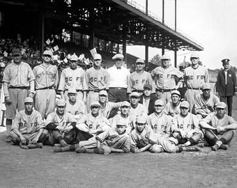 "1922 Fireman's Baseball Team, Washington, D.C. Vintage Photograph 8.5"" x 11"""