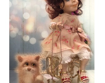 "doll ""Marusya and cat"""