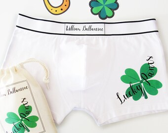 Lucky Pants, Personalised Men's Boxer Briefs