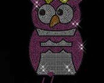 Rhinestone I'm A Hoot Owl Lightweight Ladies T-Shirt  or DIY Iron On Transfer    MB2K