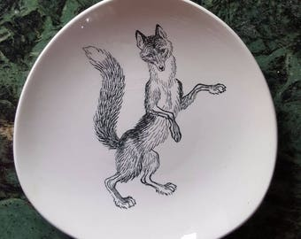 """1950s Vintage Plate """"The Fox"""" by Ridley Borchgrevink"""