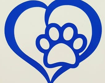 Decal, pet, puppy, dog, paw, dog paw decal