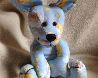 Baby Shower Gift Boy Stuffed 10 inch Plush Puppy Dog Handmade