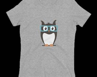 Women's Eyeglass Owl T-Shirt
