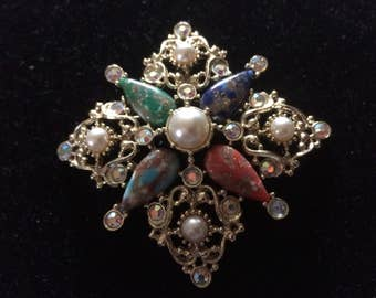 Gorgeous Vintage Sarah Coventry Galaxy Brooch