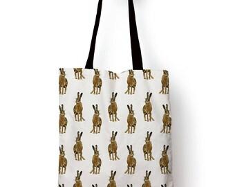 Hare Pattern, Edge to edge Tote bag