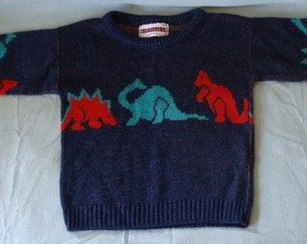 Vintage Child's dinosaur sweater size 7