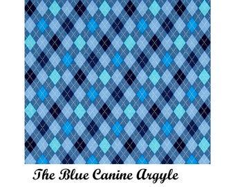 Martingale collar, Martingale Buckle,or Regular Flat Buckle Dog Collar, The Blue Canine Argyle Custom Dog Collar