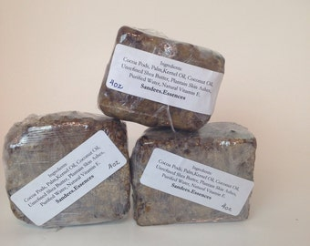 100%  Raw African Black Soap  Bar Unrefined from Ghana/ Premium Quality