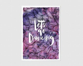 Let's Go Dancing Greeting Card