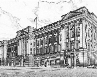Buckingham Palace (A4 Digital Art Print)