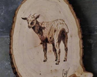 Wood-Burning: White Goat