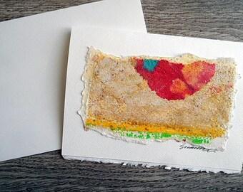 Blank Greeting Card--Sandpaper Print 13