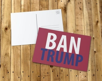 Ides of Trump BAN TRUMP Postcard