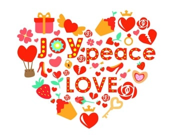Joy, Peace, Love Card