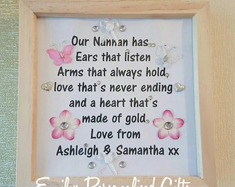 Personalised Mother/Nan/Grandma Frame