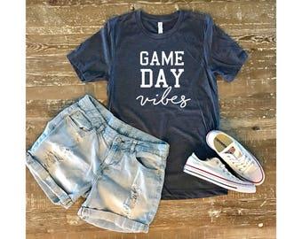 Game day vibes shirt, game day shirt, baseball, Baseball mom shirts, boy mom shirt, baseball shirt, mom shirts, football shirt