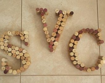 Wine Cork Hand Made Letters