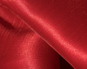 Garnet Red High Shine Fabric