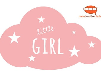 Wall stickers: Cloud - little girl | Wall stickers, wall sticker, wall decoration, cloud for baby's room, children's room
