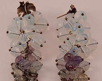 "Earrings handmade vintage style for women ""Currant paradise"""