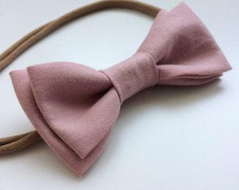 Blush Pink Fabric Bow