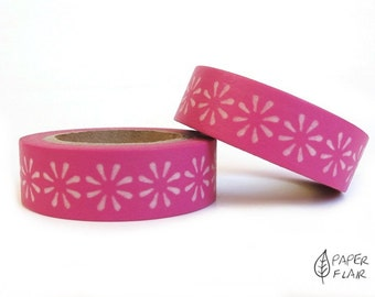 Washi tape floral pink/white (PY-823)