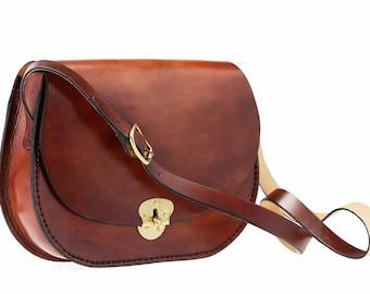 Leather 'Heart' shoulder bag
