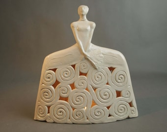 Ceramic Sculpture , Openwork Sculpture , Pottery , Ceramic Figure , Fine Art Ceramic , Décor , Home Decoration , Gift for Her ,