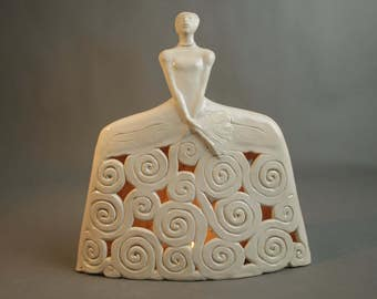 Ceramic Sculpture, Openwork Ceramic Figurine, Ceramic Art, Fine Art Ceramic, Clay Sculpture, Ceramic Décor, Ceramics and Pottery.