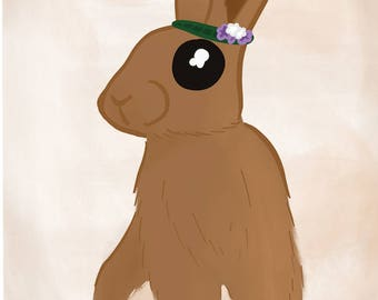 Flower Crown Rabbit
