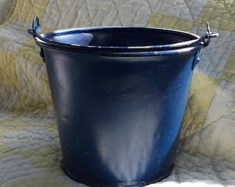 Cute little blue tin bucket